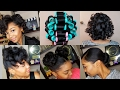 HOW TO ROLLER SET HAIR   Roller Setting Tutorial 2017   RELAXED HAIR