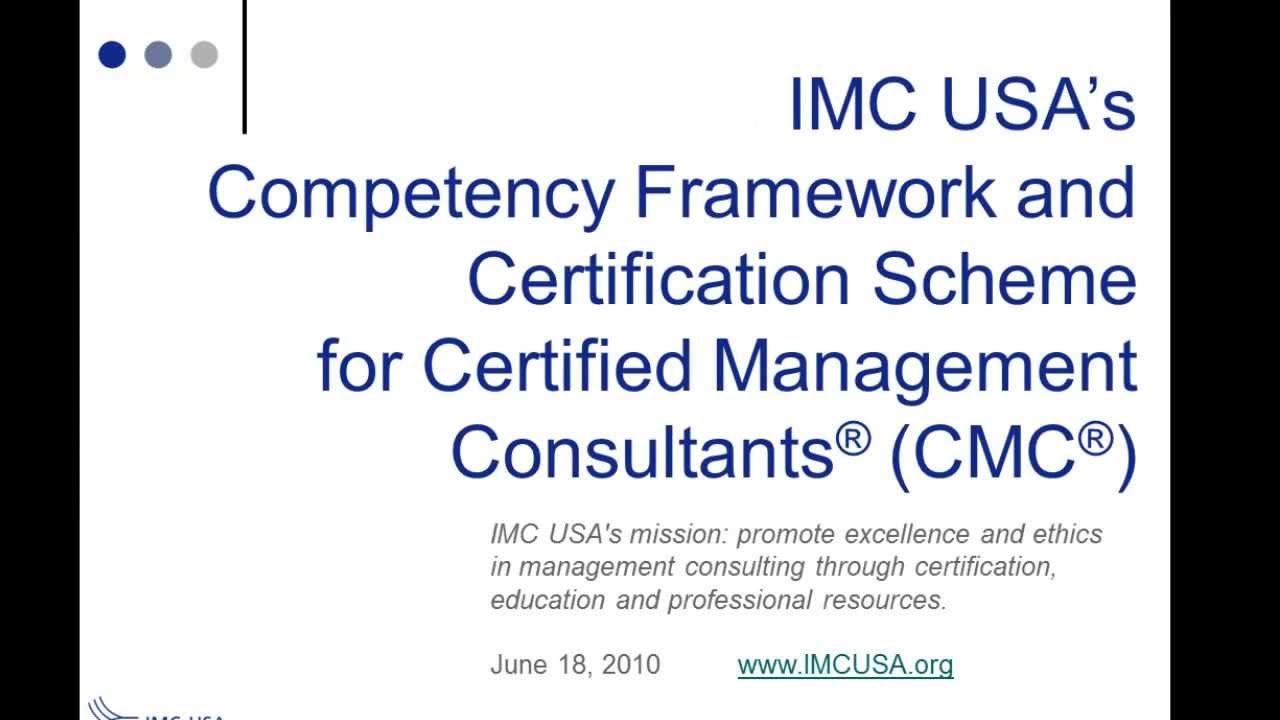 The Certified Management Consultant Cmc How To Get Certified