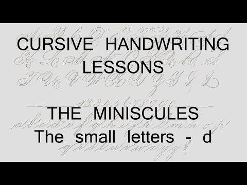 cursive lesson 20 - d - handwriting penmanship calligraphy copperplate