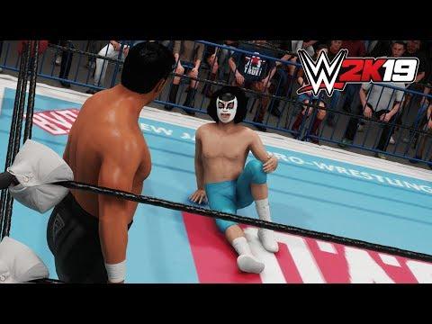 WWE 2K19 ダイナマイト四国 vs 蝶野正洋 - Dynamite Shikoku vs Masahiro Chono (CPU vs CPU)