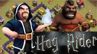 Ataques Con Montapuercos(Hog Rider) - Clash Of Clans