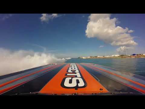 First Person POV Super Boat Unlimited Key West Lap - Wake Effects Offshore Racing