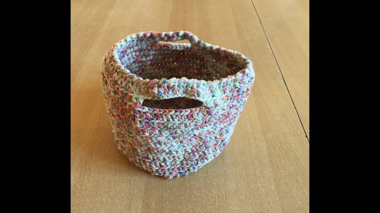 tuto panier sac au crochet youtube. Black Bedroom Furniture Sets. Home Design Ideas