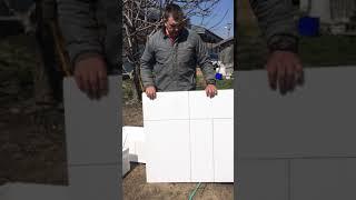 как сделать ящик из пенопласта