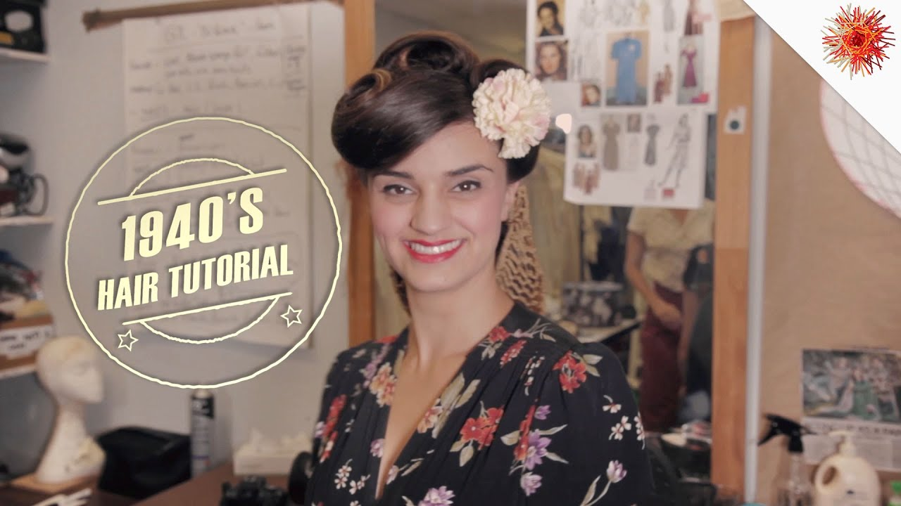 Hairstyles For Short Hair 1940s: Victory Rolls! 1940s Hairstyle Tutorial