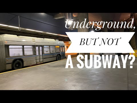 Boston's Underground Bus : WEIRD Public Transportation that's not a Subway (Silver Line BRT)