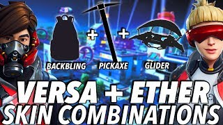 """Versa + Ether "" SKIN BEST BACKBLING + SKIN COMBOS! (Season 8) (Fortnite) (2019)"