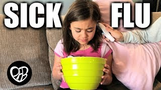 SHE was SICK with 103 FEVER and THROWING UP | SICK KIDS FLU BUG SICKNESS the FIRST TIME this YEAR