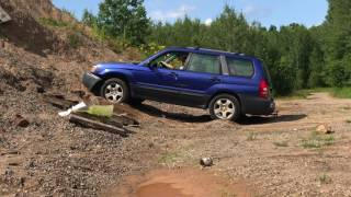 Ford Expedition And Subaru Forester Go Off Road