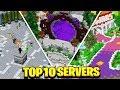 TOP 10 BEST MCPE SERVERS!!! - Minecraft (Pocket Edition, Xbox, Windows 10)