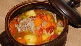 Шурпа, чорба, хашлама или восточный суп в горшочках.