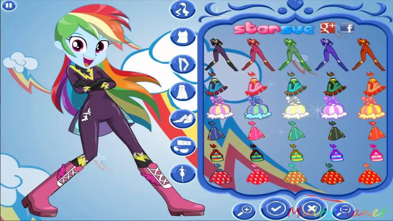 Мой маленький пони на русском девушки эквестрии стиль Радуги Дэш / Girls Equestria Rainbow Dash