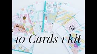 10 cards 1 kit video tutorial Crafty Ola Store Card kit of the Month October 39 18 39 39 Make a Wish 39 39