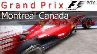 F1 2011 Ferarri Montreal Canada Gameplay Heavy Rain (Wet)