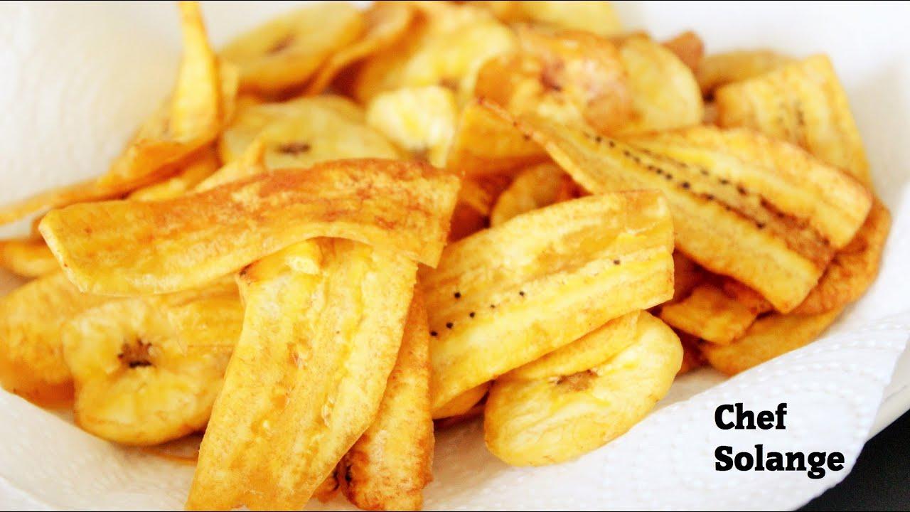 Chips de bananes plantains super crousty youtube - Cuisiner des bananes plantain ...
