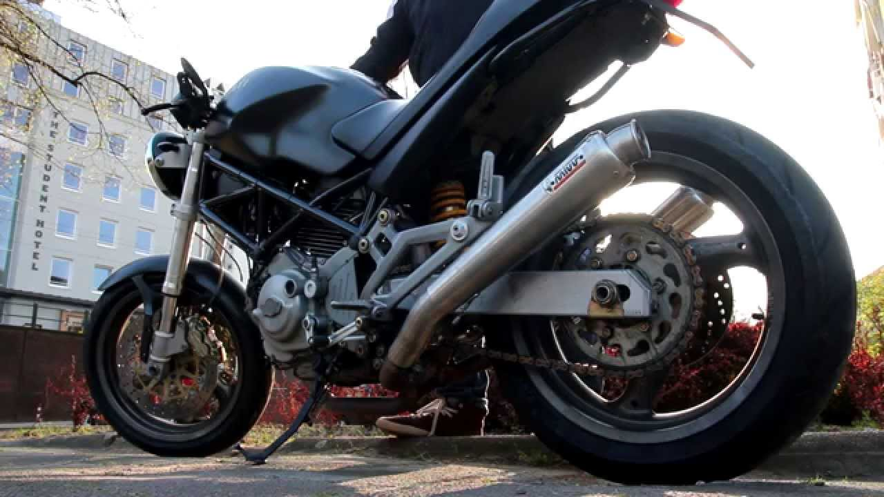 Mivv X Cone Exhaust On Ducati Monster 620 04 Before