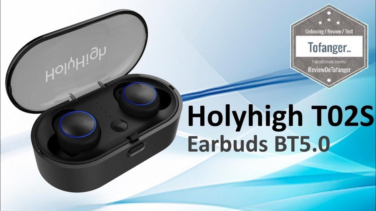 03665e8a316 Holyhigh T02S Noir Écouteurs de sport sans fil Bluetooth 5.0 - YouTube