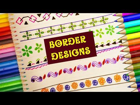 Border Designs | SUPER EASY BORDER DESIGNS FOR SCHOOL PROJECT |  Art And Craft Nice Border Designs