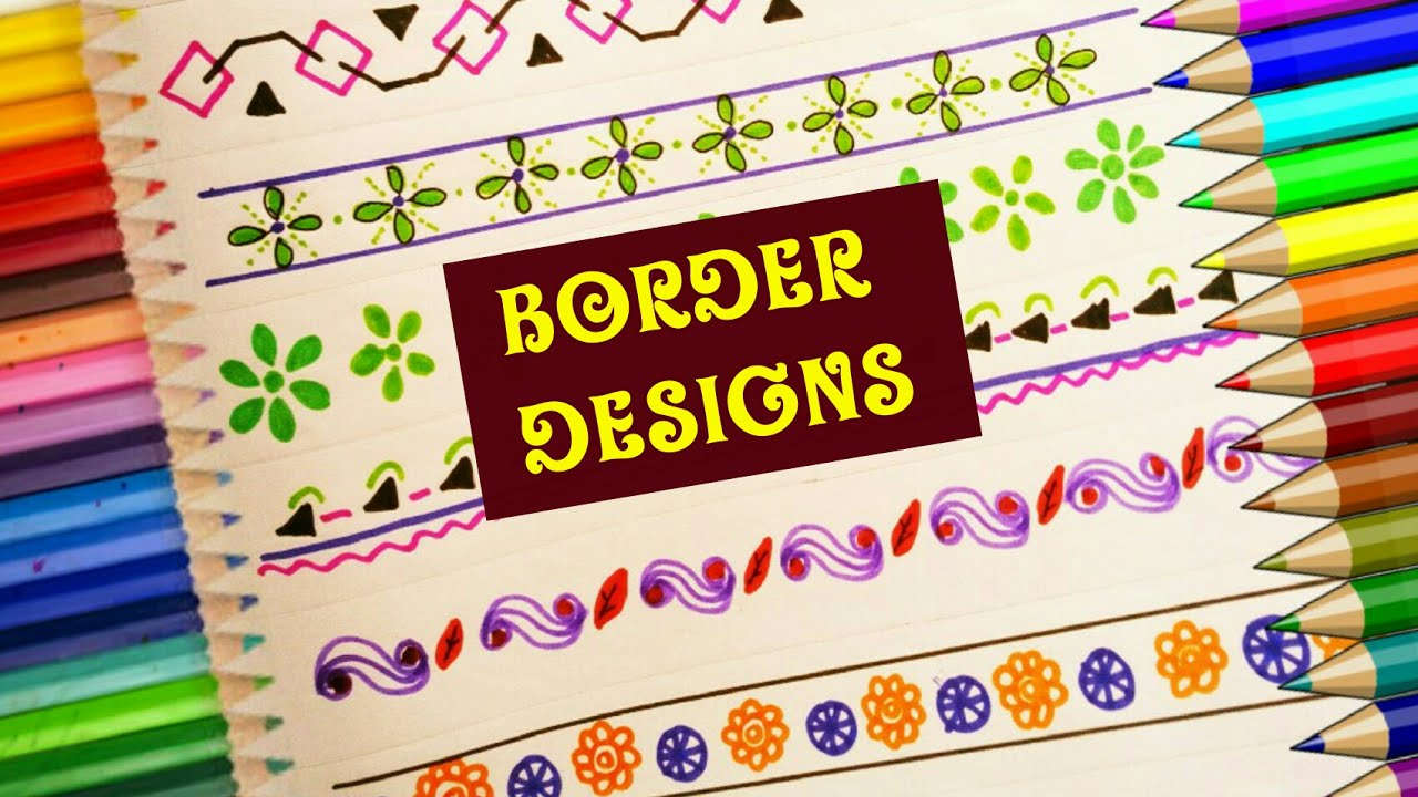 Border designs super easy for school project art and craft nice also rh youtube