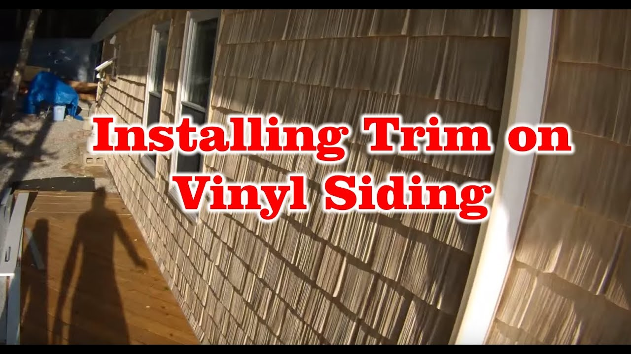 How To Install Vinyl Siding Installing Trim On Vinyl