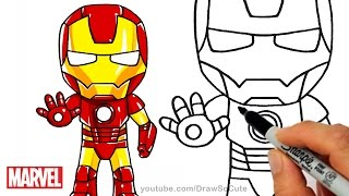 How to Draw Iron Man step by step Chibi Marvel Superhero