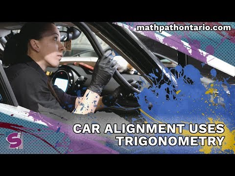 Car Alignment uses Trigonometry - Automotive Technician | Online Math Toolkit for Ontario Students
