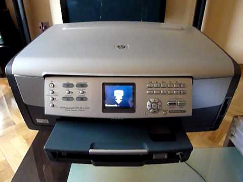 HP Photosmart 3210 drukowanie raportu.MOV - YouTube