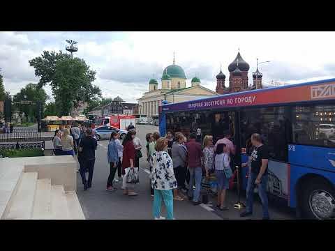 Открытие первого городского экскурсионного автобуса в Туле
