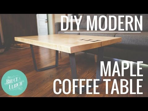 DIY Modern Maple Coffee Table // Woodworking Project