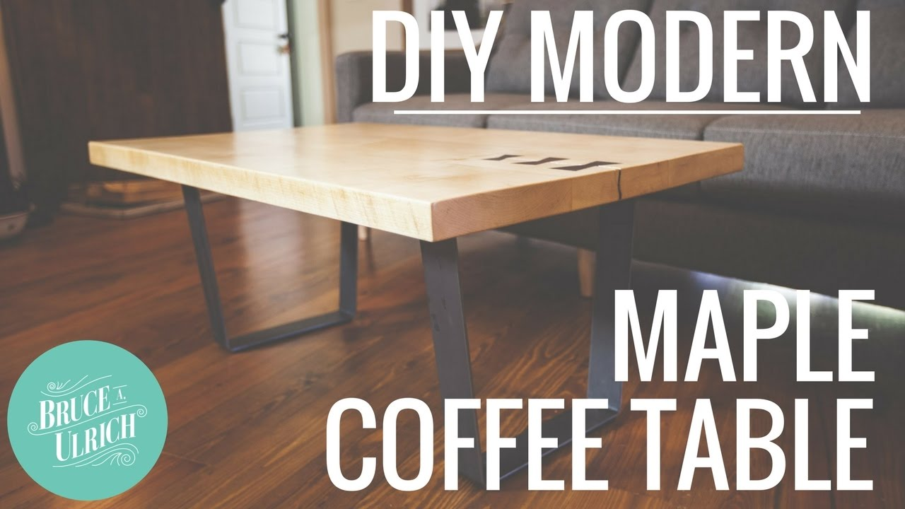 Diy Modern Maple Coffee Table Woodworking Project Youtube