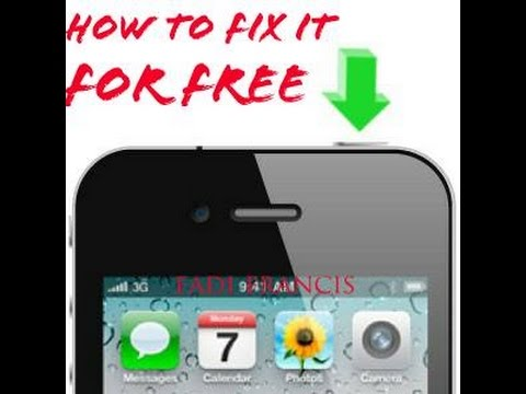 How to fix Iphone power button for FREE - YouTube