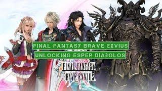 Final Fantasy Brave Exvius Unlocking Esper Diabolos (English Version)