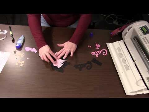 Winni the Pooh Font Cricut Cartridge Card Tutorial - CraftDirect
