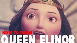 How to Draw Queen Elinor From Brave