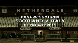 SCOTLAND U20 v ITALY U20 - 8.2.13 - TV HIGHLIGHTS