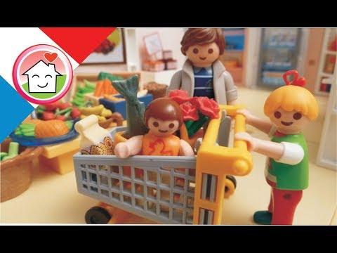 Film Playmobil en français Faire des courses avec la famille Hauser / film pour enfants