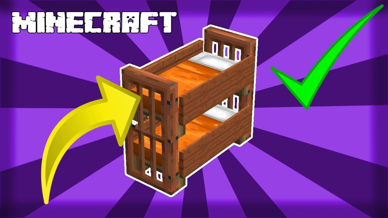 Minecraft How To Make Good Looking Easy Bunk Beds 1 14 Youtube,Best Paint For Bathrooms Walls