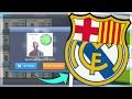 EL CLASICO SQUAD! BARCELONA+REAL MADRID! Dream League Soccer 2018