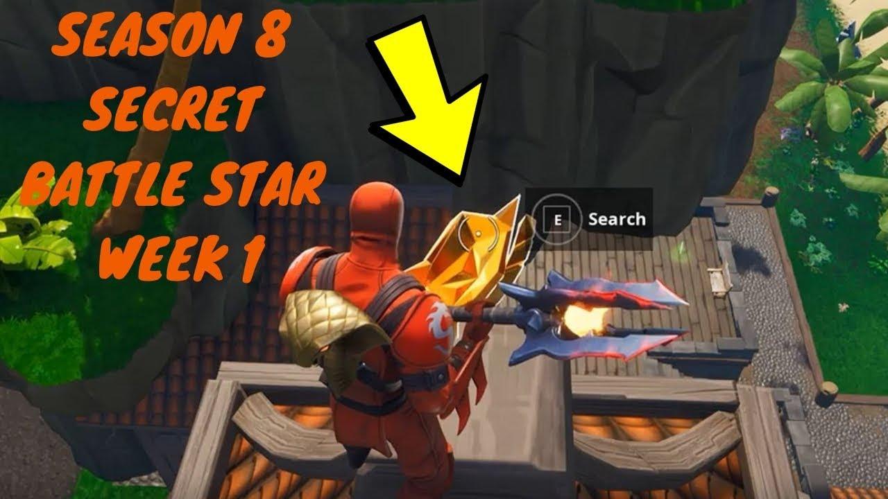 Fortnite Season 8 Week 1 Discovery Challenge Secret Battle Star