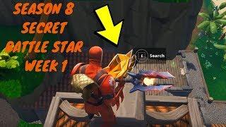 Fortnite-temporada 8 semana 1 descoberta desafio secreto batalha estrela localização na tela de carregamento #1