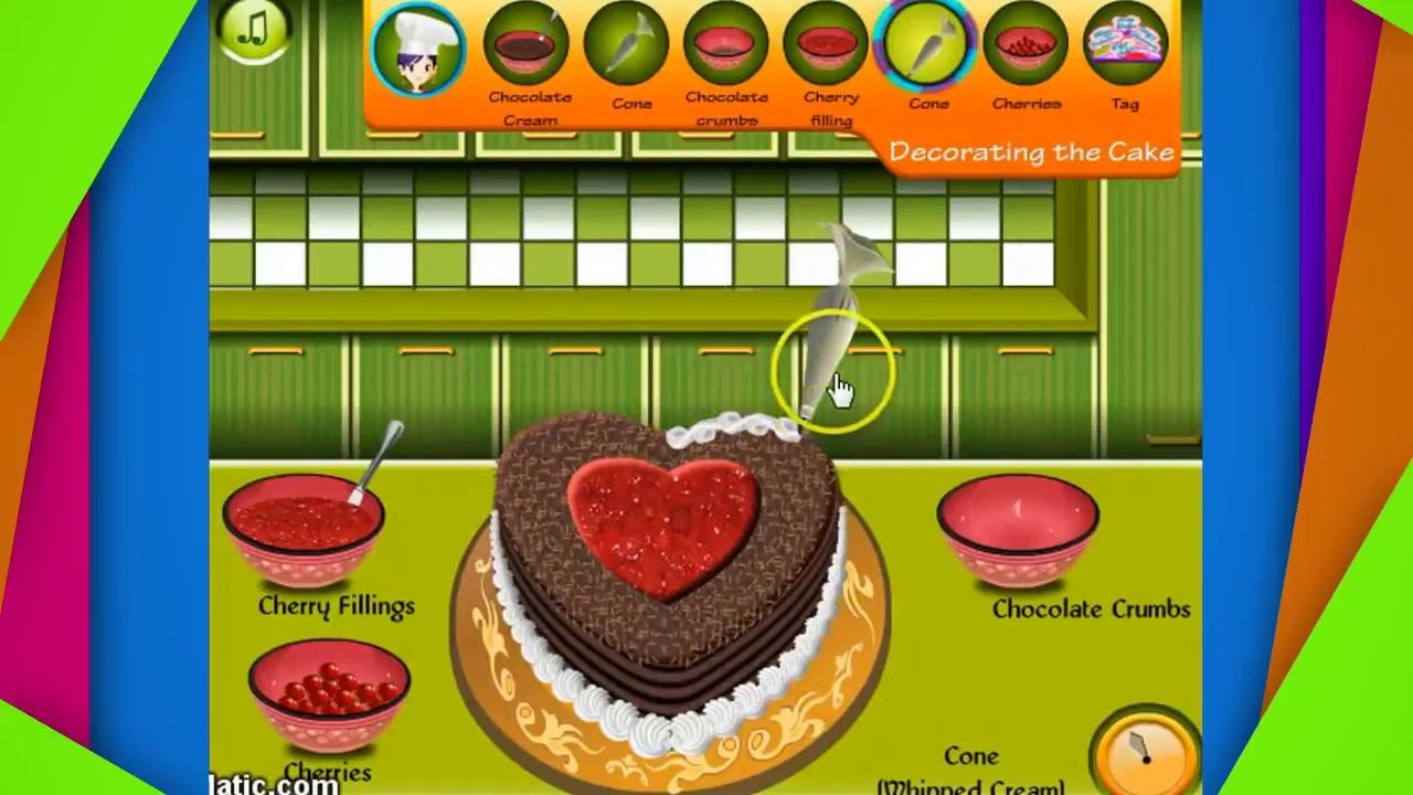 Game trẻ em – Học nấu ăn cùng cô Sara – Bánh Sandwich gà nướng – Bánh Socola Valentine