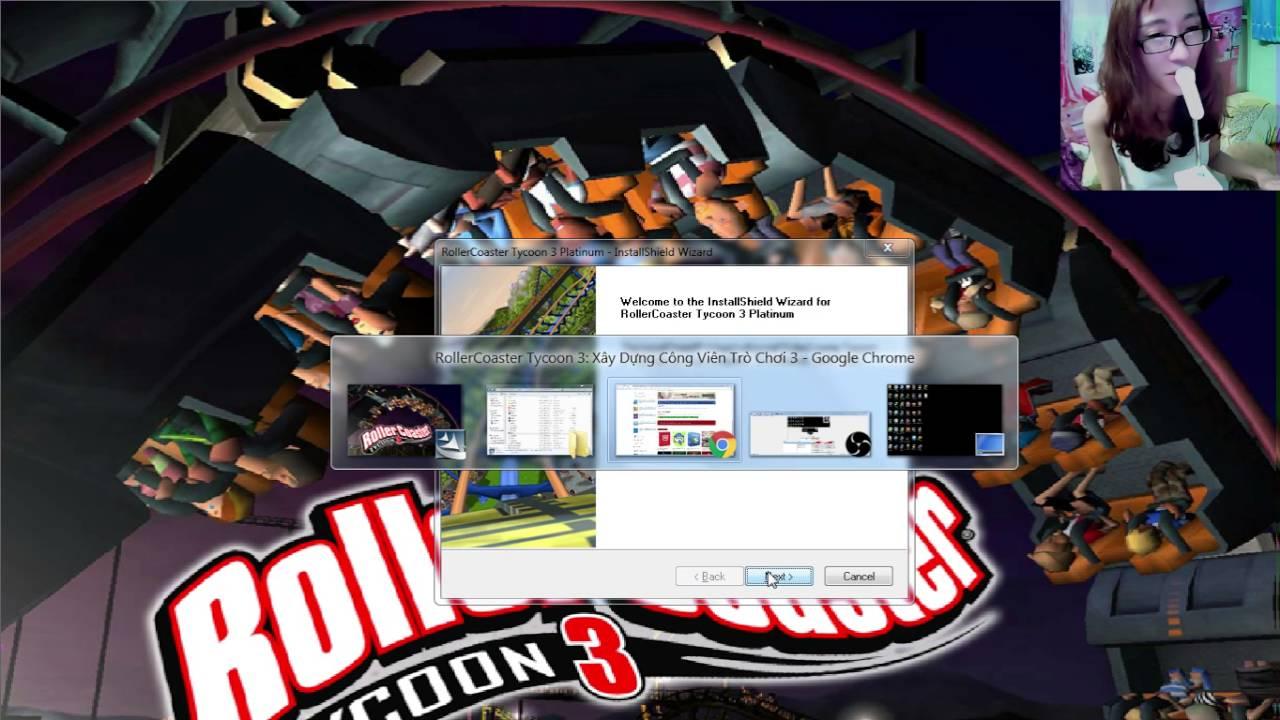 Hướng Dẫn Down và cài đặt Game Rroller coaster tycoon 3 full crack