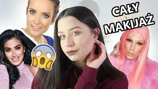 Cały makijaż kosmetykami YouTuberów ❄ VLOGMAS #1 ❄