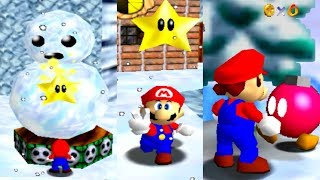 Super Mario 64 All Snow Levels 100% (All Stars)