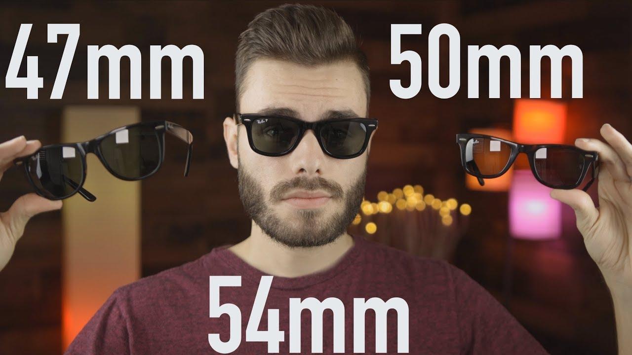 7ce8383ea81d6 Ray-Ban Wayfarer Size Comparison 47mm vs 50mm vs 54mm - YouTube