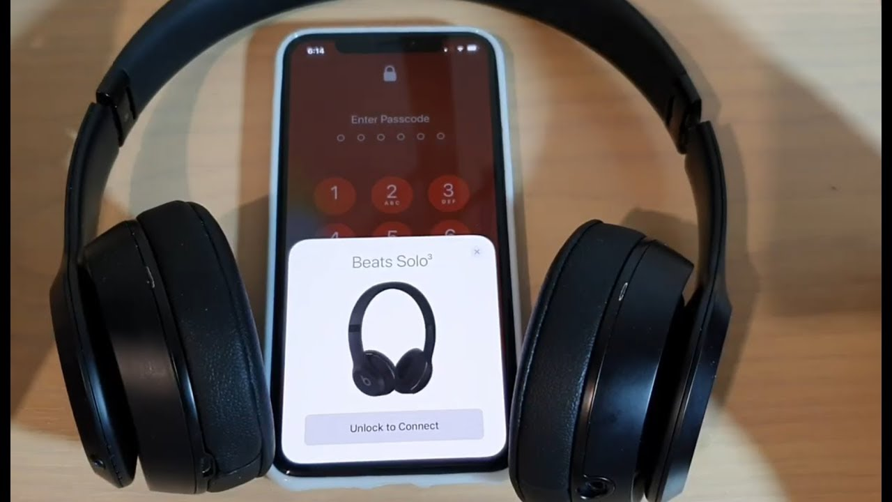 Iphone 11 Pro How To Pair With Beats Solo 3 Headphone Via Bluetooth Youtube