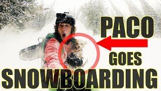 Dog Goes Backcountry Snowboarding!!! @roadsidepaco