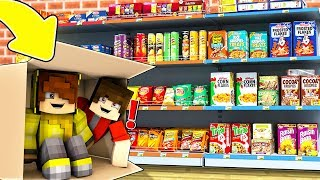 ISMETRG 24 SAAT DÜKKANDA SAKLANDI! 😱 - Minecraft