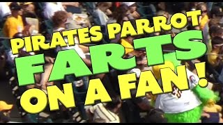 Pittsburgh Pirates Parrot Farts on a Fan!