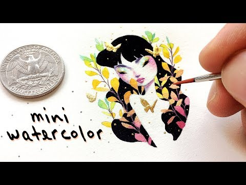 Painting a Miniature Watercolor // Bao Pham